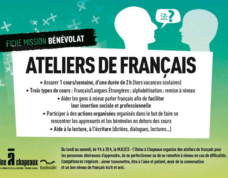 Bénévole ateliers de français