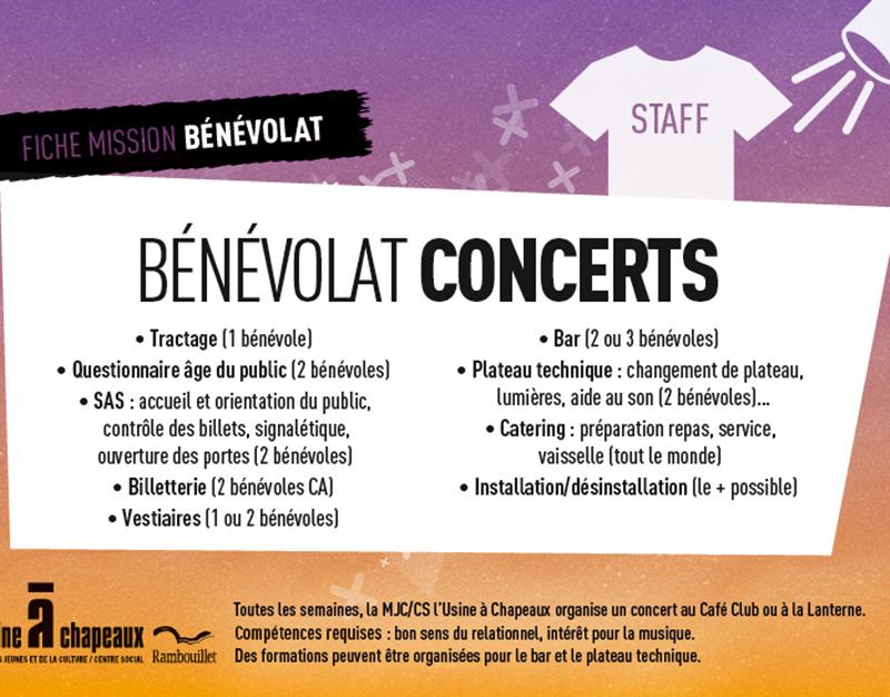Bénévole concert